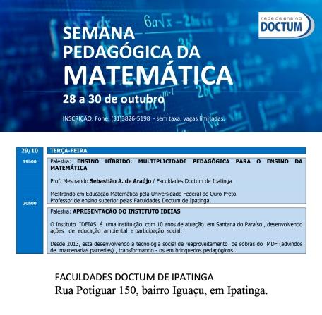 2 Semana Pedagógica da Matematica Terça